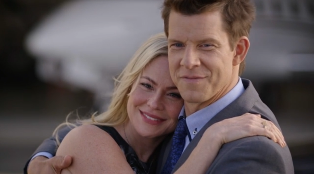 Kristin Booth as Shane and ERic Mabius as Oliver in SIgned, Sealed, Delivered: The Impossible Dream