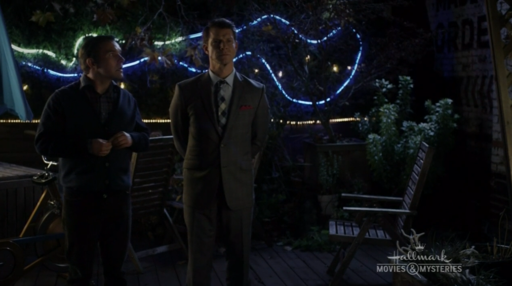 Geoff Gustafson as Norman Dorman and Eric Mabius as Oliver O'Toole in Signed, Sealed, Delivered: Higher Ground