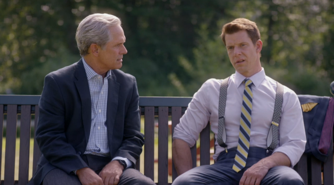Gregory Harrison and Eric Mabius in Signed, Sealed, Delivered: Truth Be Told