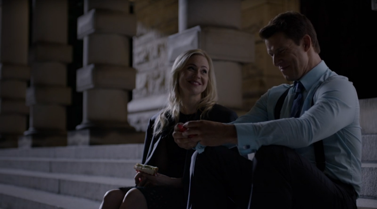 Kristin Booth and Eric Mabius in Signed, Sealed, Delivered: The Impossible Dream