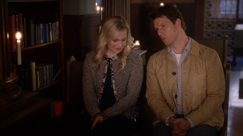 Kristin Booth as Shane McInerney and Eric Mabius as Oliver O'Toole in Signed, Sealed, Delivered: Lost Without You