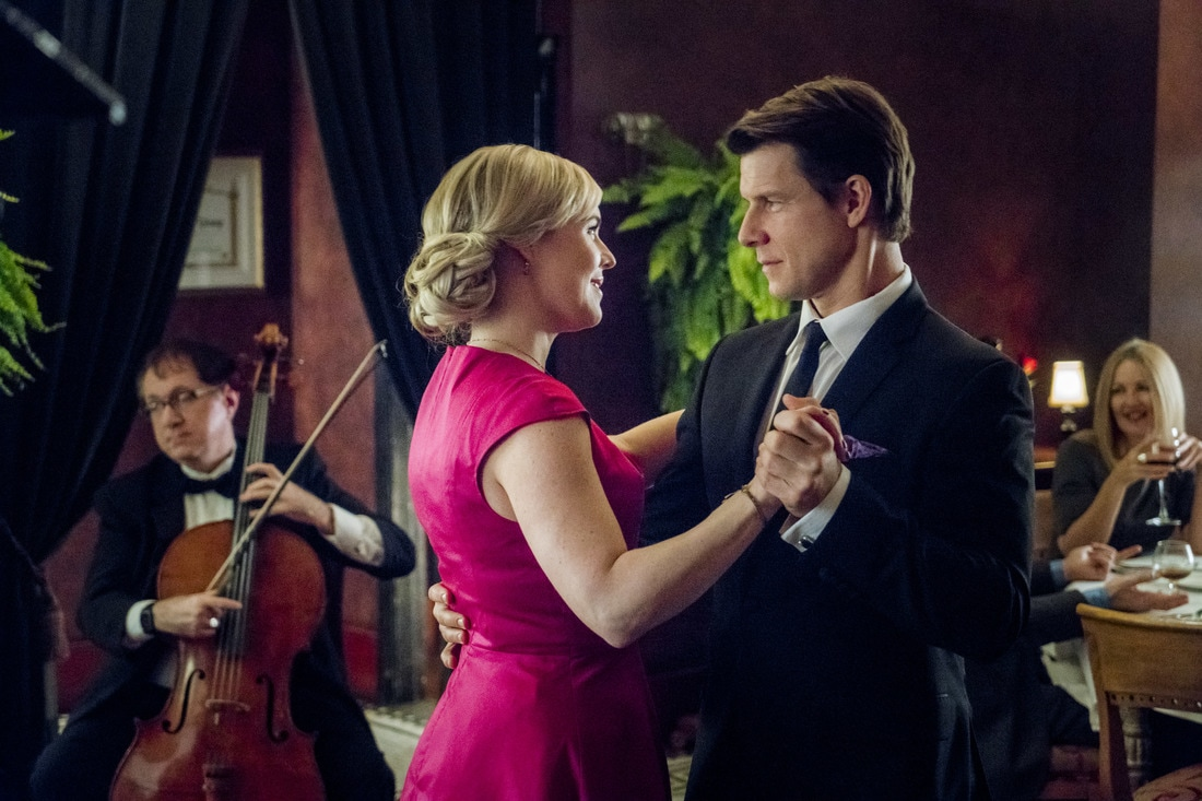Kristin Booth and Eric Mabius in Signed, Sealed, Delivered: From The Heart