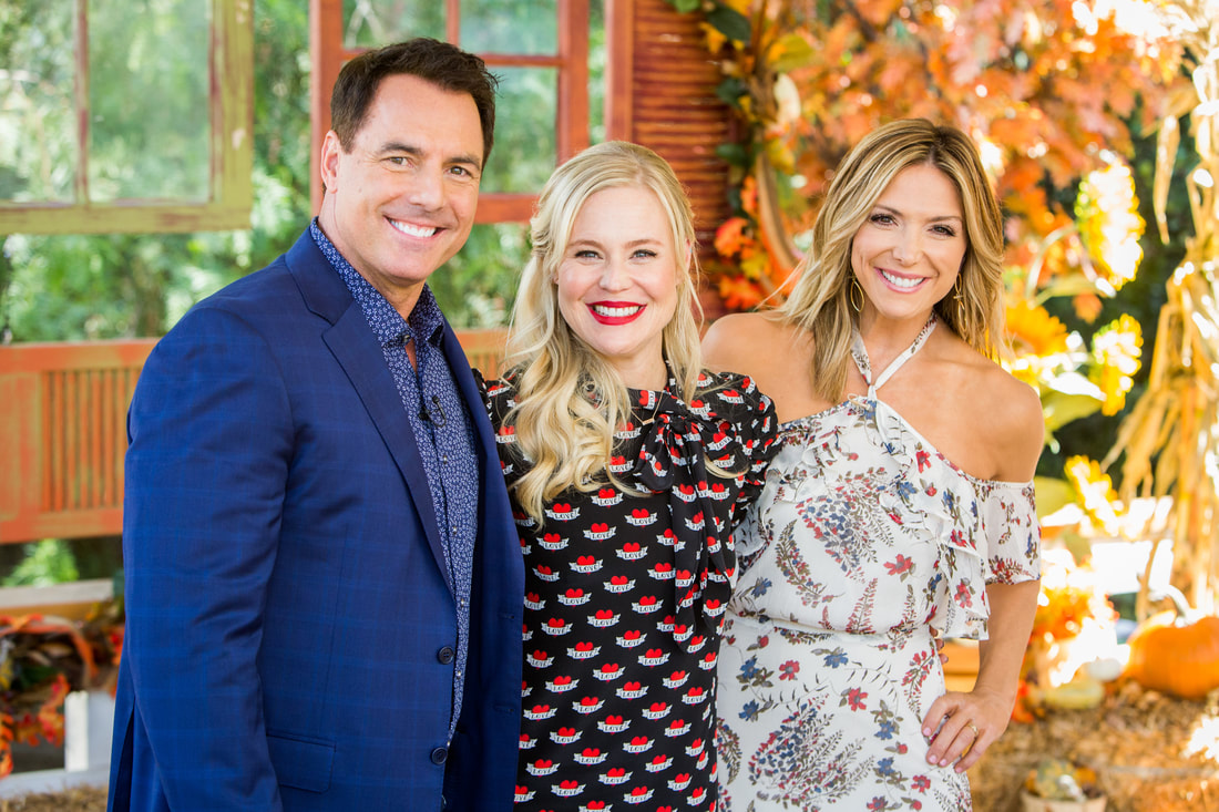 Kristin Booth with Mark and Debbie on Hallmark Channel's Home & Family