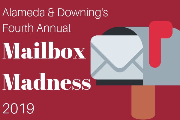 Alameda and Downing Fourth Annual Mailbox Madness 2019