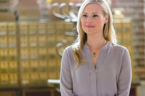 SIGNED, SEALED, DELIVERED - The Postables, Oliver, Shane, Rita and Norman, explore the mystery of true love as they deliver divorce papers to one couple the same day Oliver's missing wife reappears. Photo: Kristin Booth Photo Credit: Copyright 2015 Crown Media United States LLC/Photographer: Bettina Strauss