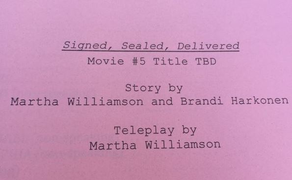 Signed, Sealed, Delivered Movie 5 script cover