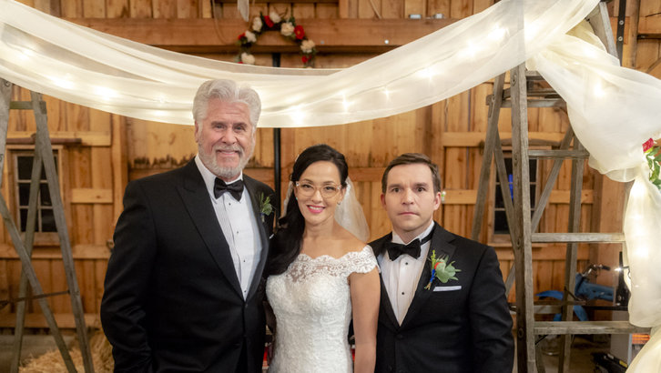 Bill, Rita & Norman at the wedding in Signed, Sealed, Delivered: To The Altar