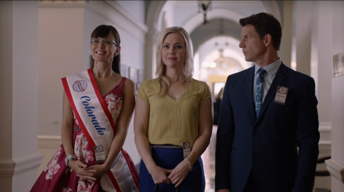 Crystal Lowe, Kristin Booth and Eric Mabius in Signed, Sealed, Delviered: The Impossible Dream