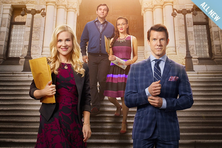 Shane, Oliver, Rita and Norman in the Signed, Sealed, Delivered: Higher Ground key art