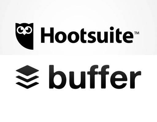 Buffer and Hootsuite logos
