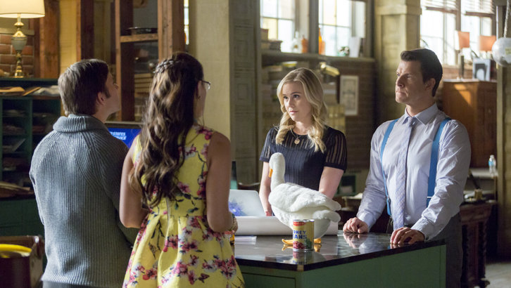 Kristin Booth, Eric Mabius, Crystal Lowe and Geoff Gustafson in Signed, Sealed, Delivered: Higher Ground