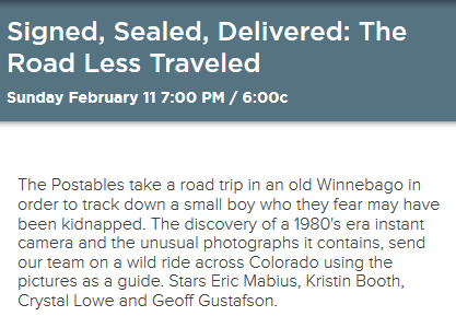 Signed, Sealed, Delivered: The Road Less Traveled synopsis