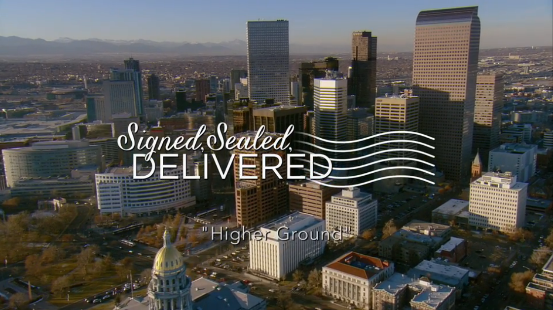 Title card from Signed, Sealed, Delivered: Higher Ground